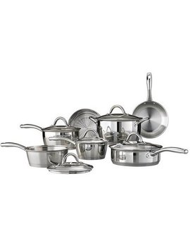 Tramontina 12 Piece Gourmet Tri Ply Base Cookware Set, Stainless Steel by Tramontina