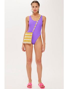 crinkle-scoop-swimsuit by topshop