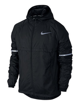 Men's Shield Hooded Running Jacket by Nike