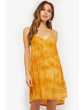 Tie Dye Y Back Mini Dress by Forever 21