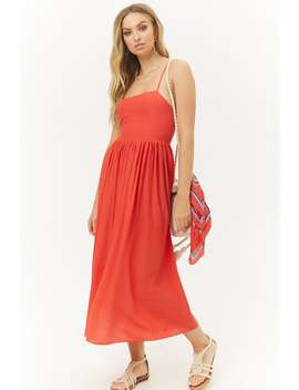 Billowy Lace Up Maxi Dress by Forever 21