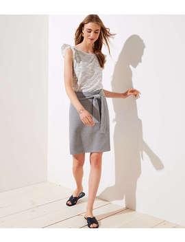 Tall Tie Waist Knit Pencil Skirt by Loft