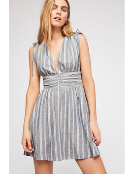 Roll The Dice Striped Mini Dress by Free People