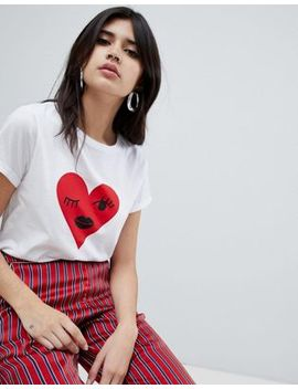 Soaked In Luxury Winking Heart T Shirt by Top