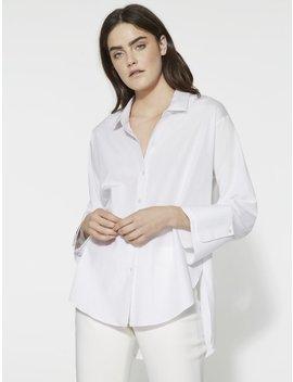 Wide Cuff Cotton Shirt by Halston