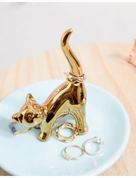 Louche Cat Ring Holder by Asos