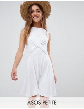 Asos Design Petite Twist Front Skater Dress by Asos Design