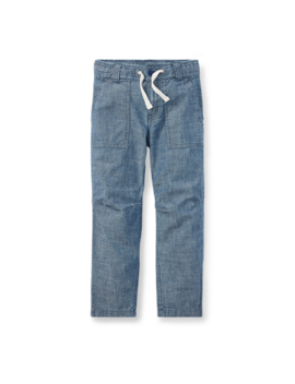 Tapered Cotton Chambray Pant by Ralph Lauren