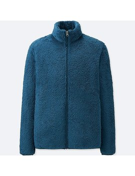 Men Fluffy Yarn Fleece Full Zip Jacket by Uniqlo
