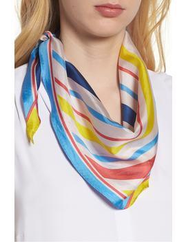 Cabana Stripe Diamond Silk Scarf by Echo