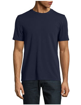 Solid Pima Crew T Shirt by Perry Ellis