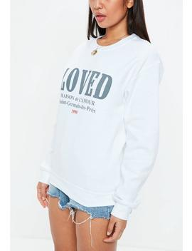 White Lovers Graphic Sweatshirt by Missguided