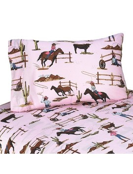 Cowgirl Horse Print Sheet Set by Shop This Collection