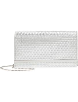 Woven Faux Leather Metallic Clutch by Nordstrom