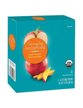 Organic Apple Mango Fruit Pouches 4ct   3.2oz   Simply Balanced™ by Simply Balanced™