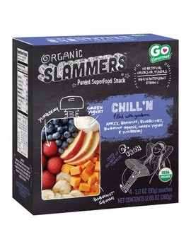 Organic Slammers Superfood Snack Chill'n Fruit, Veggie & Yogurt Filled Pouches 4pk   3.17oz by Target