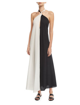 Lucille Colorblocked Halter Coverup Dress by Mara Hoffman
