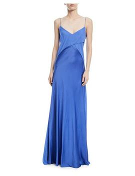 Myles Satin Georgette Gown by Ralph Lauren Collection
