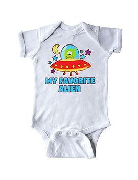 Inktastic Favorite Alien In Spaceship With Moon And Stars Infant Creeper by Inktastic