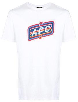 A.P.C.Logo Print T Shirthome Men Clothing T Shirts White Workout Clean Ripple Ice Sneakersstraight Leg Jeanslogo Print T Shirt by A.P.C.