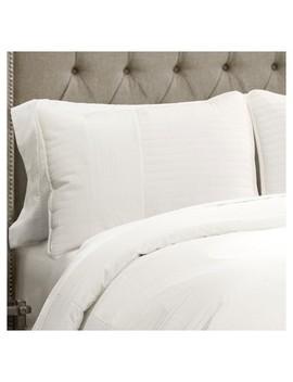White Thin Stripe Textured Quilt Set 3pc   Lush Decor® by Lush Decor