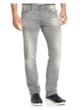 Men's Slim Straight Lonesome Wash Stretch Jeans by Guess