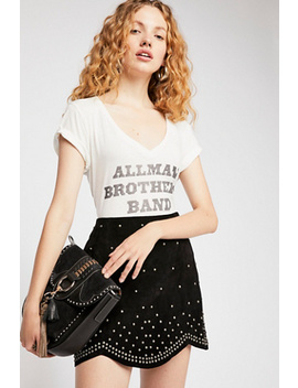 Studded Suede Mini Skirt by Free People
