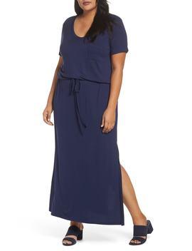 Knit Drawstring Waist Maxi Dress by Caslon®