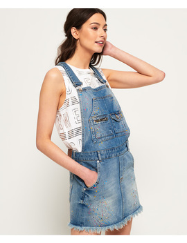 Denim Dungaree Dress by Superdry