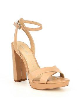 Veeniz Leather Block Heel Dress Sandals by Generic