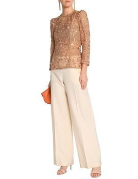 Embroidered Cotton And Silk Blend Gauze Blouse by Zimmermann