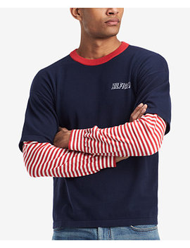 Men's Faux Layer Graphic Print T Shirt by Tommy Hilfiger