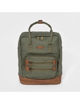 Mad Love Solid Canvas Backpack Handbag   Olive by Mad Love