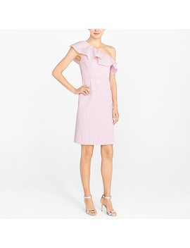 One Shoulder Ruffle Dress In Seersucker by J.Crew