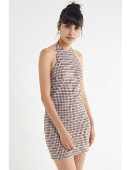 Uo Plaid Halter Mini Dress by Urban Outfitters