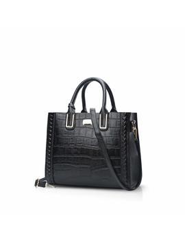 Nicole&Doris Luxury Women Top Handle Handbags Shoulder Bag Crossbody Bag Tote Satchel Purse Crocodile Pattern Pu Leather by Nicole&Doris