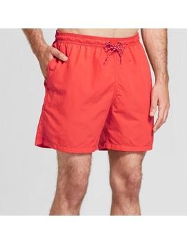 "Men's 18"" Elastic Waist Swim Trunks   Goodfellow & Co™ Poinsettia by Goodfellow & Co™"