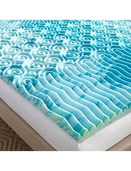 Lane 2 Inch Gel Lux Gel Memory Foam Mattress Topper In Blue by Bed Bath And Beyond