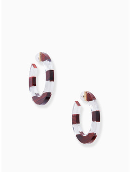 Slice Of Stone Hoops by Kate Spade