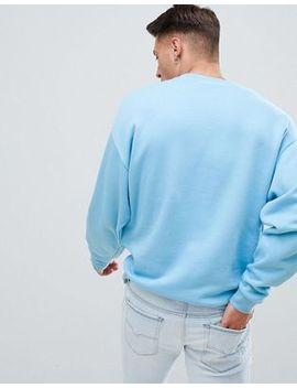 Asos Design Oversized Sweatshirt In Blue by Asos Design