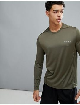 Asos 4505 Long Sleeve T Shirt With Quick Dry In Khaki by Asos 4505
