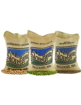Non Gmo Project Verified Garbanzo Beans, Lentils And Green Split Peas (15 Total Lbs)   100 Percents Usa Grown   Identity Preserved (We Tell You Which... by Palouse Brand