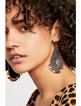 Mia Leather Teardrop Earrings by Free People