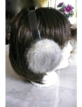 Vintage Earmuffs   Mink Fur   Muffs   Ear Muffs  Silver Mink   Fur Ear Muffs   Winter Accessories   Women's Earmuffs   Fluffy Flat Ear Muffs by Etsy