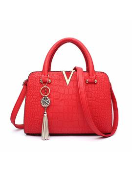 Xwb Womens Pu Leather Colourful High Quality Ladys Handbags Top Handle Stylish Tote Bags by Amazon