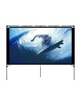 Outdoor Projector Screen   Foldable Portable Outdoor Front Movie Screen, Setup Stand, Transportable Full Set Bag For Camping And Recreational Events,80 Inch By Vamvo by Vamvo