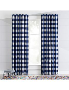 Blue Buffalo Check Blackout Curtains by Crate&Barrel