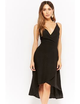 Linen High Low Homecoming Dress by Forever 21