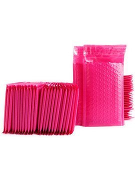 """Kelkaa #000 Pink Poly Bubble Mailers Bulk Self Seal Padded Envelopes 4"""" X 8"""" Shipping Bubble Mailer Bags (Pack Of 50) by Kelkaa Mailers"""