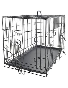 """Ox Gord 36"""" Heavy Duty Foldable Double Door Dog Crate With Divider And Removable Abs Plastic Tray, 36"""" X 22"""" X 25"""" by Ox Gord"""